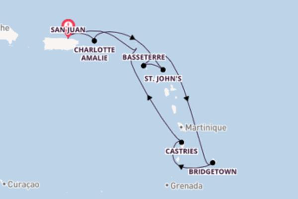 Von San Juan über Charlotte Amalie in 8 Tagen