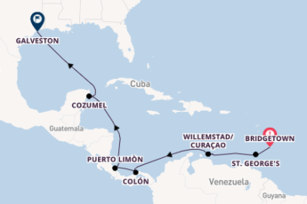 Voyage with Royal Caribbean from Bridgetown to Galveston