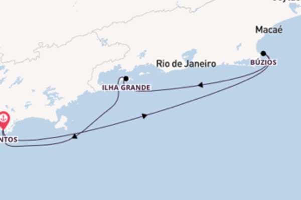 Voyage with MSC Cruises from Santos