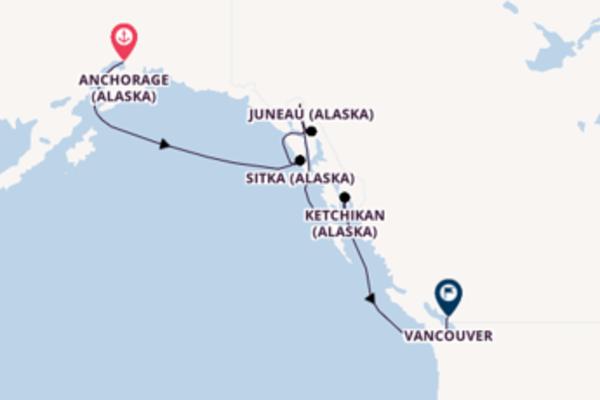 8 jours pour découvrir Ketchikan à bord du bateau Seven Seas Mariner