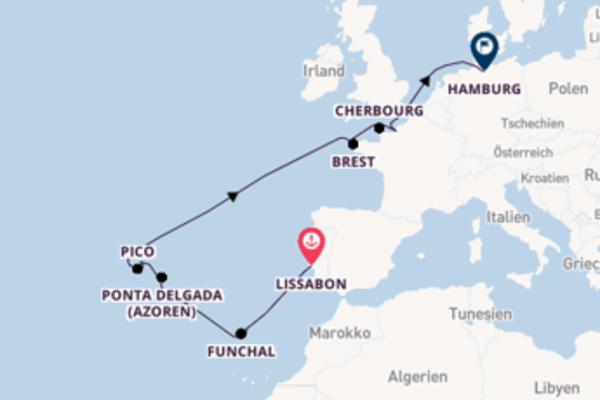 Lissabon bis Hamburg