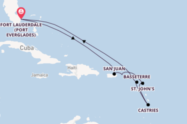 Voyage from Fort Lauderdale (Port Everglades) with the Celebrity Apex