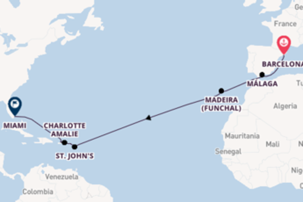17 day cruise with the MSC Seashore to Miami