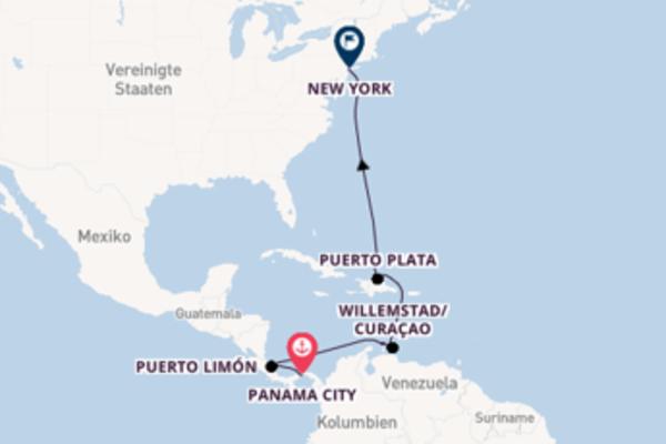 In 12 Tagen nach New York über Puerto Limón