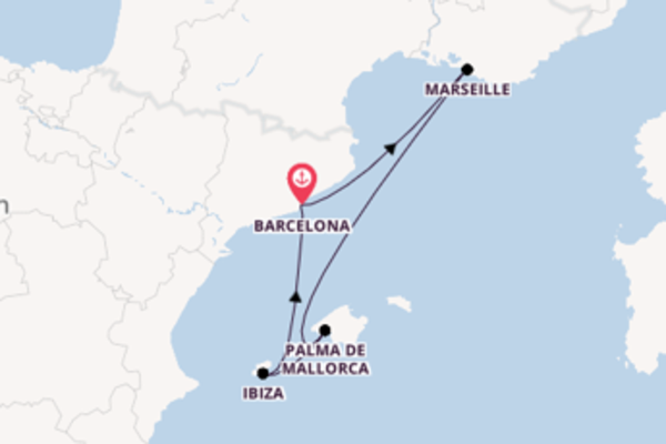 5 day journey on board the Adventure of the Seas from Barcelona