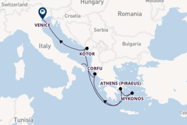 Voyage with MSC Cruises from Brindisi