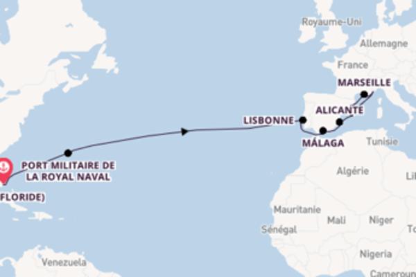 Belle croisière vers Barcelone via Monte-Carlo