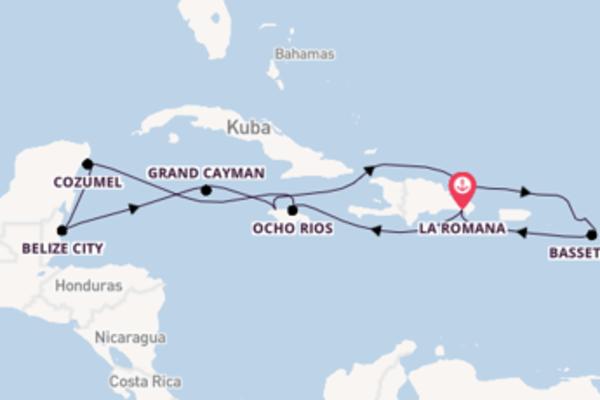 15-tägige Kreuzfahrt bis La Romana