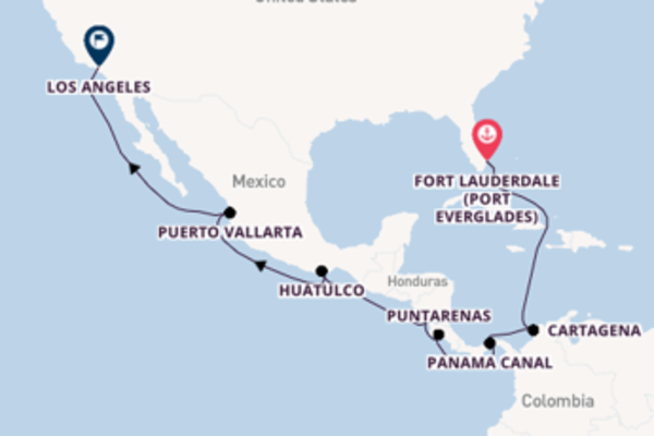 Cruising with Princess Cruises from Fort Lauderdale to Los Angeles