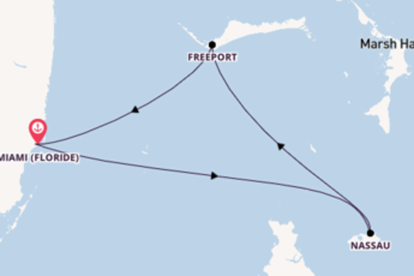 5 jours de navigation à bord du bateau Carnival Conquest depuis Miami (Floride)