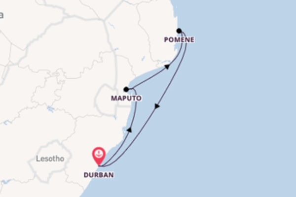 Außergewöhnliche Kreuzfahrt über Maputo ab Durban