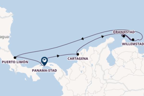 Vaar met de Norwegian Jewel naar Panama-Stad