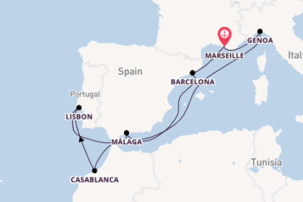 10 day expedition on board the MSC Splendida from Marseille