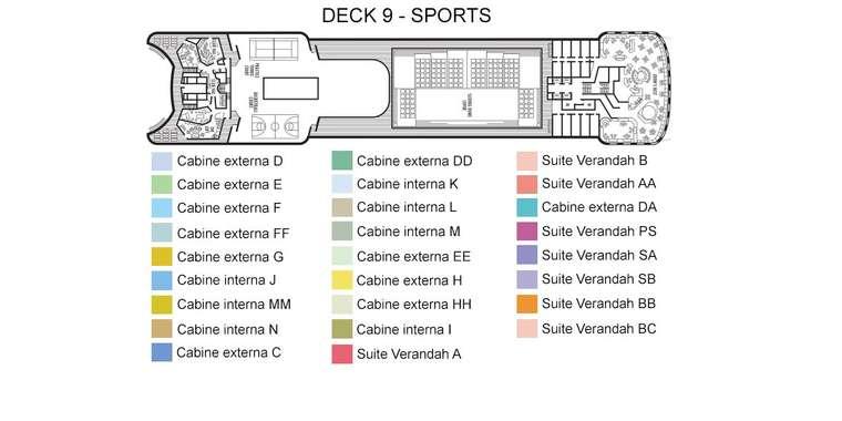 Volendam Deck 9 - Sports