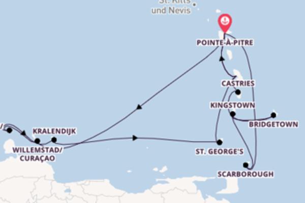In 15 Tagen nach Pointe-à-Pitre über Bridgetown