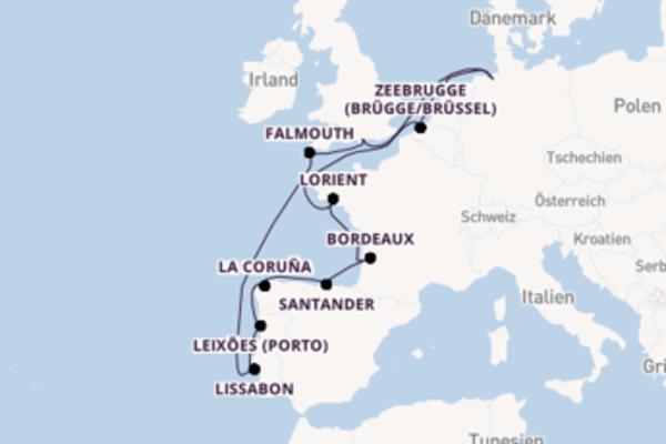 Erkunden Sie Falmouth auf der MS Deutschland