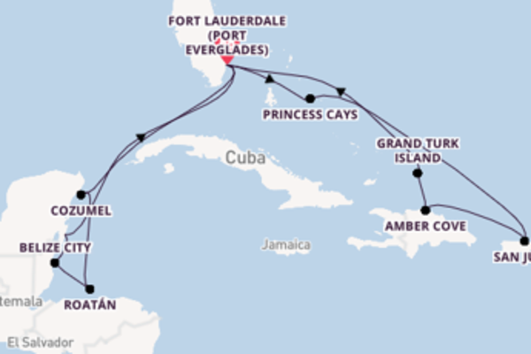 15 day cruise with the Sky Princess  to Fort Lauderdale (Port Everglades)