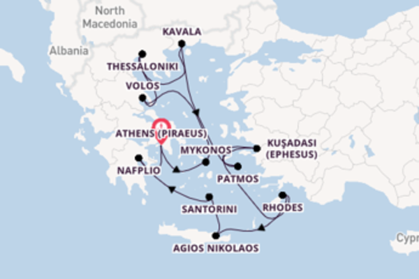 Journey from Athens (Piraeus) with the Azamara Journey