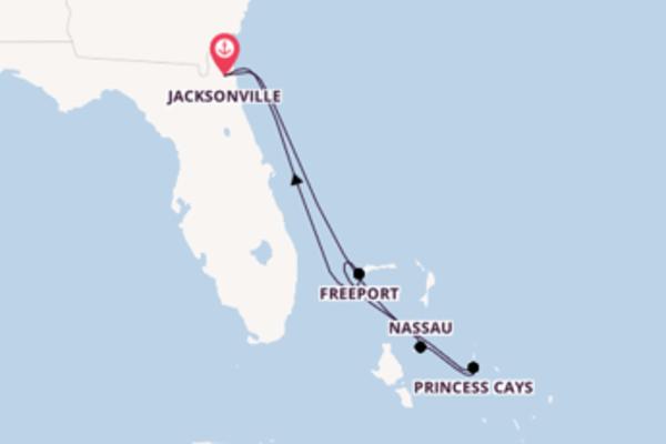 7 jours de navigation à bord du bateau Carnival Ecstasy vers Jacksonville