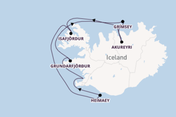 Voyage with Ponant from Reykjavik