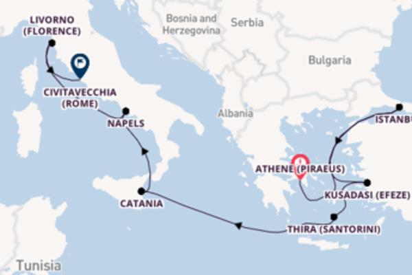 Vaar met de Norwegian Epic naar Civitavecchia (Rome)
