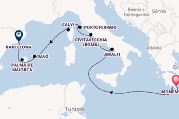 Jornada de 15 dias até Barcelona com o Wind Star