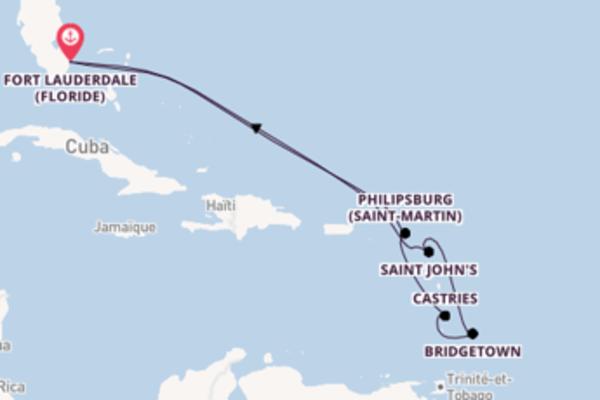 11 jours pour découvrir Philipsburg (Saint-Martin) à bord du beateau Celebrity Edge