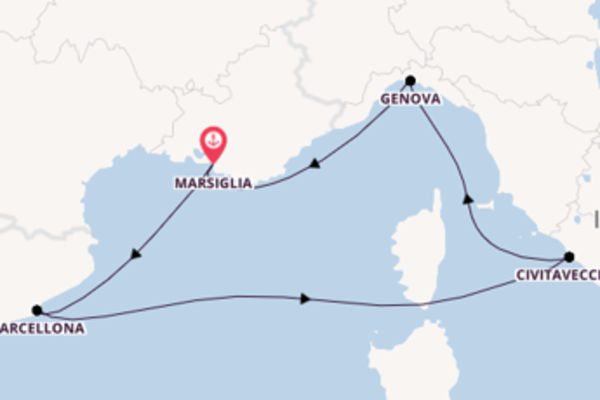 Viaggio di 6 giorni a bordo di MSC Poesia