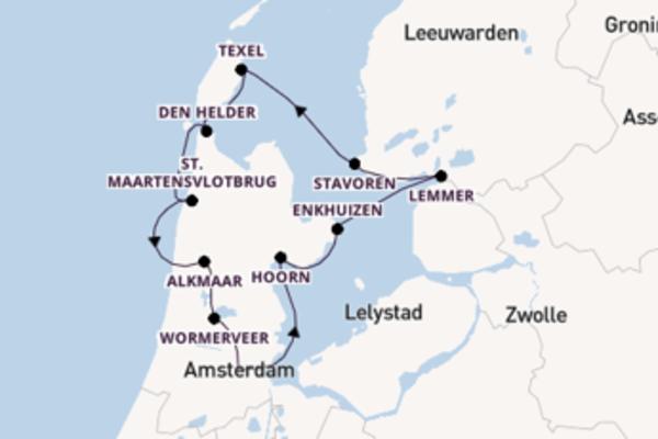 Mit Rad und Schiff durch Nordholland