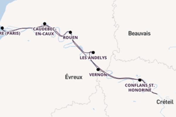Entdecken Sie Les Andelys ab Paris