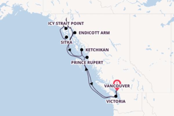 13-daagse cruise vanaf Vancouver