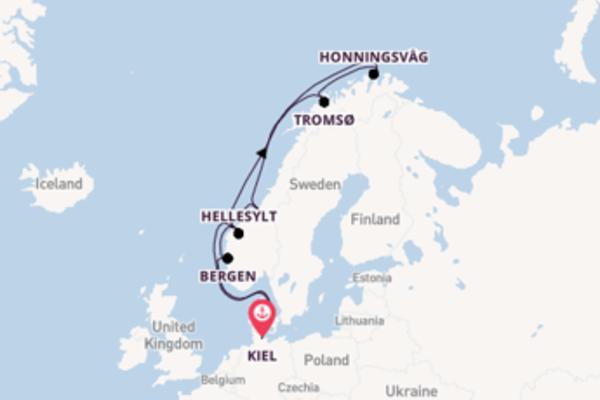 12-daagse cruise met de Mein Schiff 4 vanuit Kiel