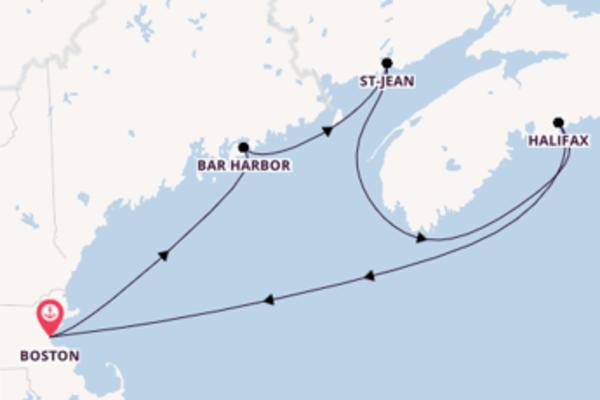 Incontournable balade de 7 jours au départ de Boston