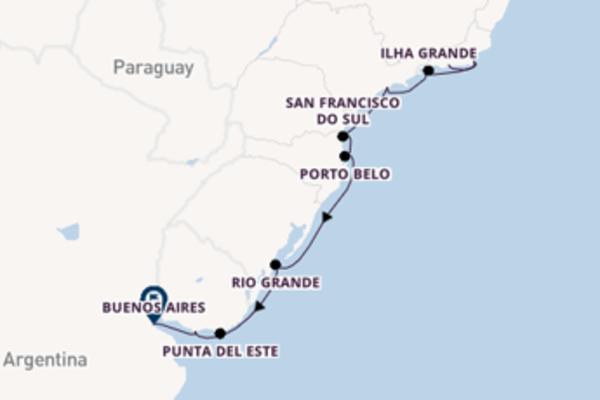13-daagse cruise met de Seven Seas Voyager vanuit Rio de Janeiro