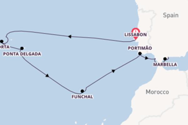 Cruise in 14 dagen naar Málaga, Spanje met Hapag-Lloyd Cruises