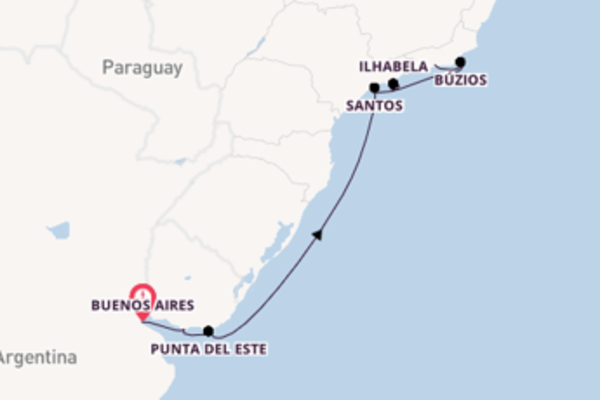 11 day cruise with the Celebrity Silhouette to Rio de Janeiro