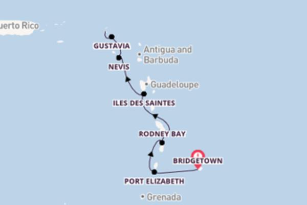Aanschouw Bridgetown, Port Elizabeth en Marigot