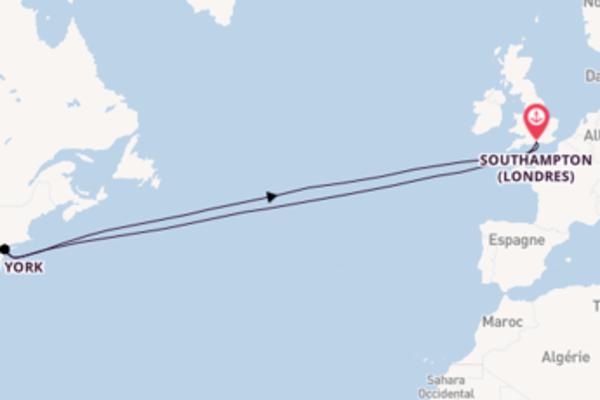 Charmante balade à bord du bateau Queen Mary 2
