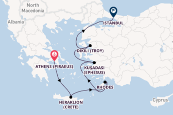 8 day voyage on board the Viking Venus from Athens (Piraeus)
