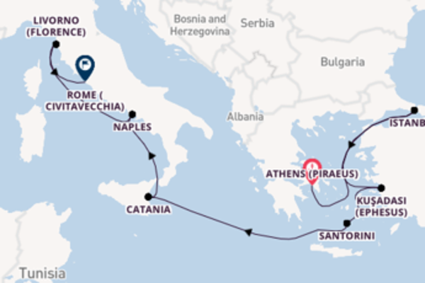 Journey with Norwegian Cruise Line from Athens (Piraeus)