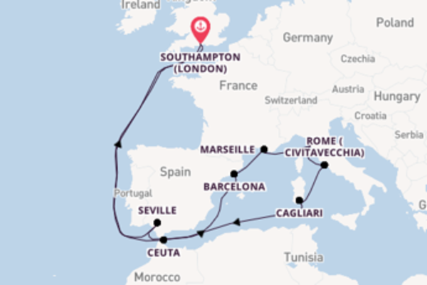 15 day expedition from Southampton (London)