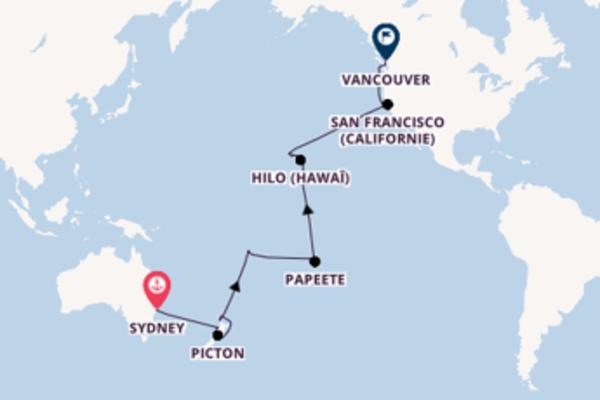 Superbe balade de 32 jours avec Princess Cruises