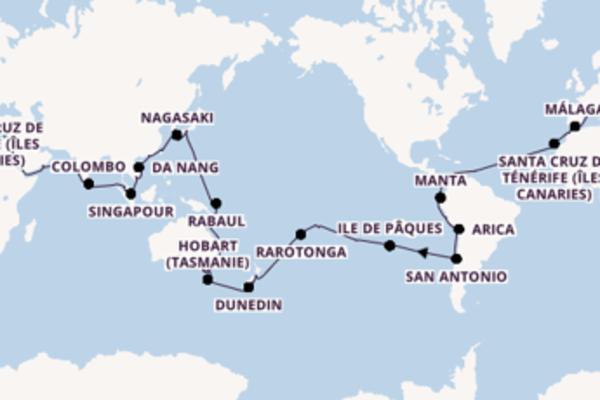 Sublime croisière avec Costa Croisières  pendant 116 jours