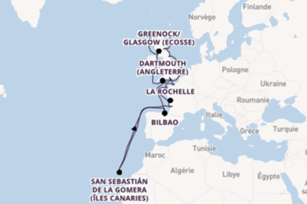 21 jours de navigation à bord du bateau Sirena  depuis Southampton (Londres)