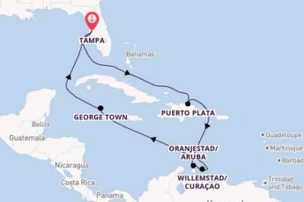 12 Tage Karibik Kreuzfahrt