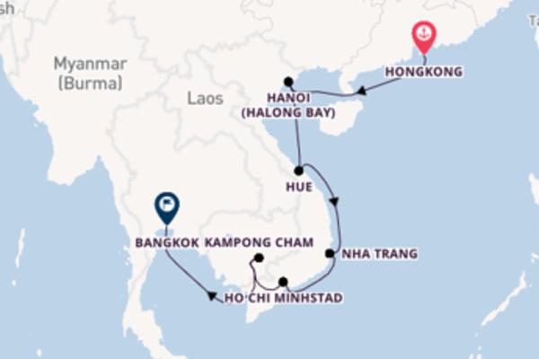 13-daagse cruise met de Insignia vanuit Hongkong