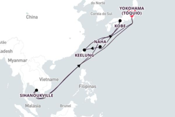Radiante viagem até Yokohama
