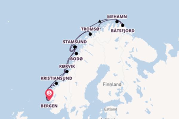 12-tägige Kreuzfahrt bis Bergen