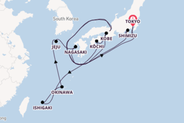 Expedition with Celebrity Cruises from Tokyo