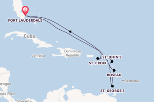 11-daagse cruise met de Celebrity Reflection vanuit Fort Lauderdale